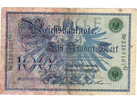 100 Marek 1908 r.