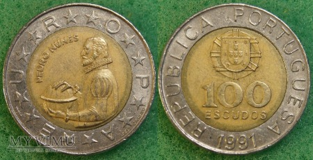 Portugalia, 100 ESCUDOS 1991