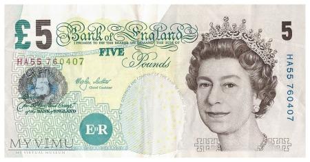 Wielka Brytania - 5 funtów (2002)
