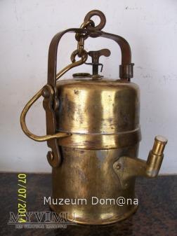 LAMPA GÓRNICZA KARBIDOWA TYP 850 - 1910 rok