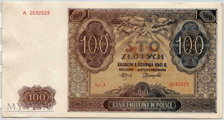 01.08.1941 - 100 Złotych