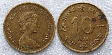 Hong Kong, 10 CENTS 1982