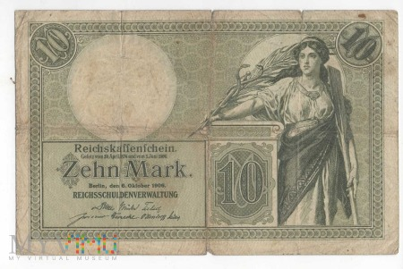 Banknot 10 MAREK ROK 1906