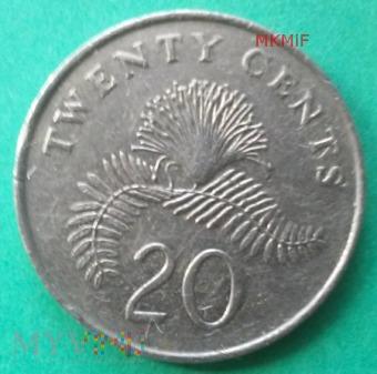 Duże zdjęcie 20 centów Singapur 1989