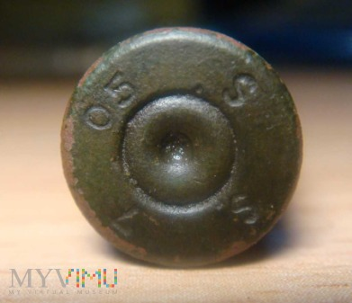 Podwójnie elaborowana łuska 7,92x57 Mauser 1905r.