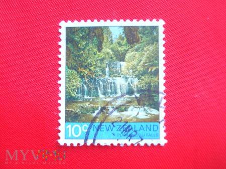 Duże zdjęcie Wodospad Purakaunui