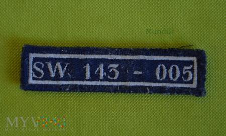 SW - numer identyfikacyjny funkcjonariusza