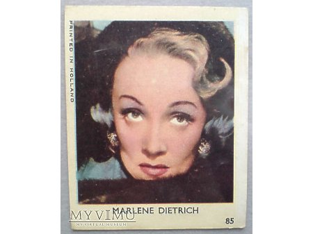 Duże zdjęcie Marlene Dietrich Karta GUMY do żucia VAL nr 85