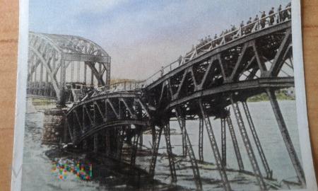 Zniszczony most w Rydze