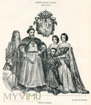 Matejko - Ubiory polskie z XVII w. Król z rodziną