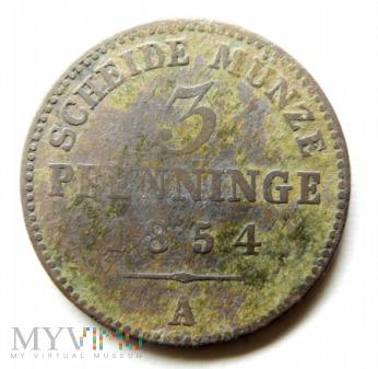 Moneta 3 Pfenninge 1854 A