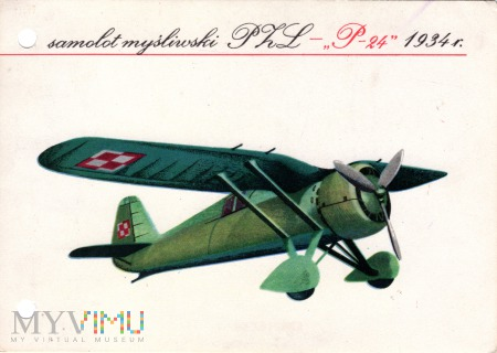 samolot myśliwski PZL - 24 1934 r.