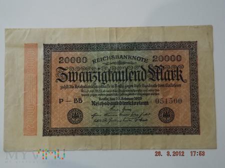 20000 Marek 1923r.
