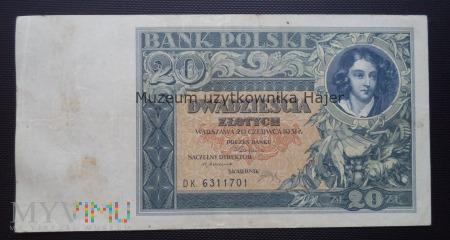 20 złotych - 20 czerwca 1931