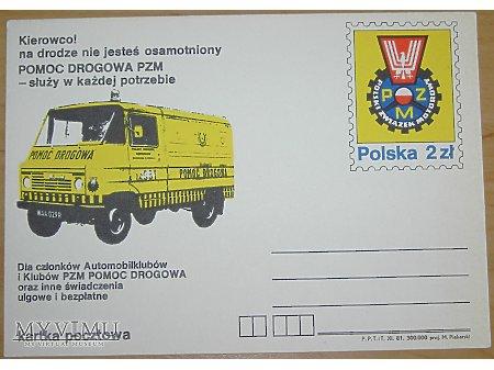 Duże zdjęcie PZM pomoc drogowa, kartka pocztowa