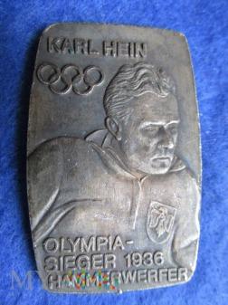 Medal pamiątkowy-Olimpiada Berlin 1936