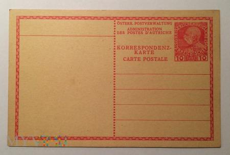 Kartka pocztowa Austro-Węgry 10 Heller, 1908