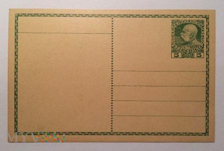 Kartka pocztowa Austro-Węgry 5 Heller, 1908