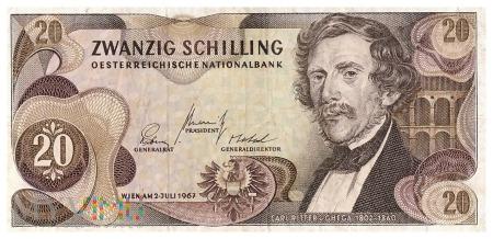 Austria - 20 szylingów (1967)