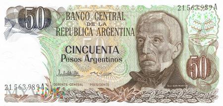 Argentyna - 50 pesos (1985)