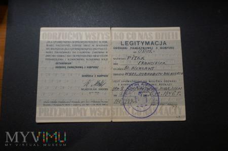 Legitymacja Odznak Pamiątkowej 2 Korpusu PSZnZ