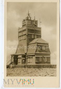 Duże zdjęcie Karkonosze Śnieżka Schneekoppe Obserwatorium 1970