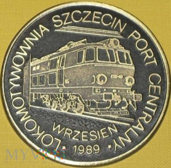 Medal lokomotywowni Szczecin Port Centralny