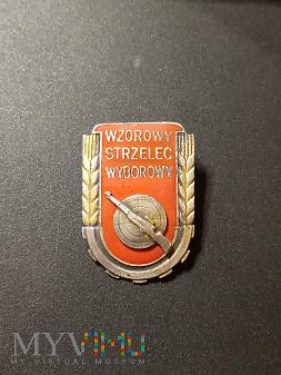 Odznaka Wzorowy Strzelec Wyborowy - wzór z 1951r