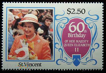St. Vincent 2,50$ Elżbieta II