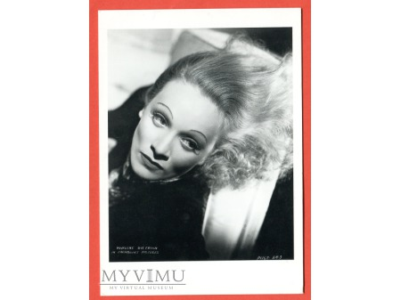 Marlene Dietrich portret Pocztówka MARLENA