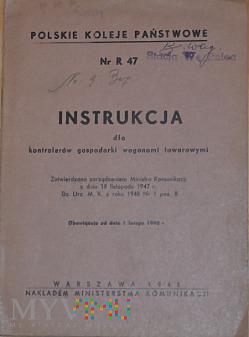 R47-1948 Instrukcja dla kontrolerów gospodarki wag