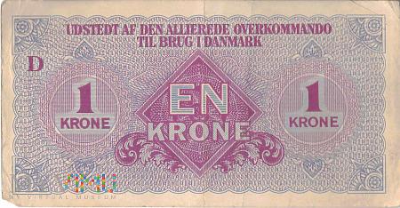 Dania (AFHQ) - 1 korona (1945)