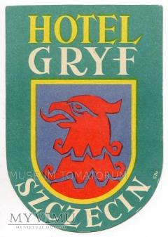 Duże zdjęcie Nalepka hotelowa - Szczecin - Hotel GRYF