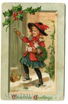 1911 Pocztówka Świąteczna Frances Brundage