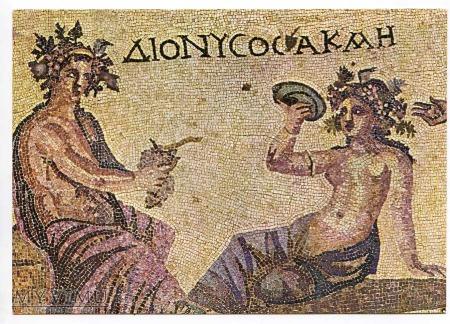 Greckie mozaiki - Dionizos i Akme