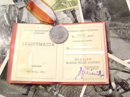 Medal 40-lecie Polski ludowej