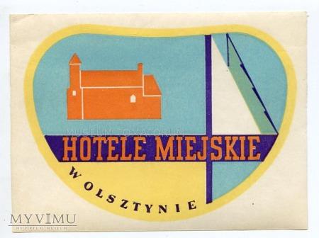 Nalepka hotelowa - Hotele Miejskie w Olsztynie