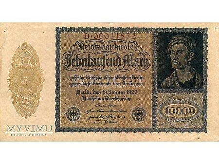 10000 Marek 1922 r.