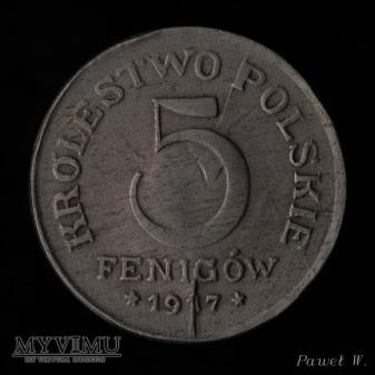 1917 5 fenigów - destrukt
