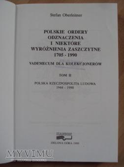 Polskie ordery odznaczenia i niektóre wyr. t.II