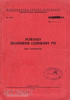 Transporter PTS. Instrukcja z 1971 r.