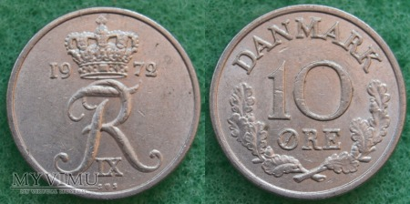 Dania, 10 Øre 1972