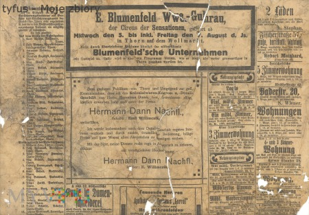 Duże zdjęcie 21 Nieznana niemiecka gazeta 28 lipiec 1914