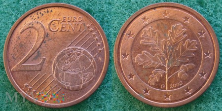 2 EURO CENT 2003 G