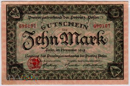 11.1918 - 10 Mark - Provinz Posen