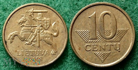 Litwa, 10 Centų 2008
