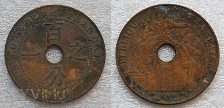 Indochiny, 1 centime 1931