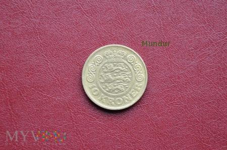 Moneta duńska: 10 kroner