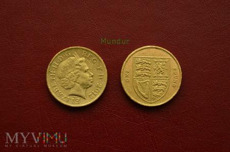 Moneta brytyjska: one pound 2012