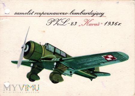 samolot rozpoznawczo-bombowy PZL-23 KARAŚ 1936 r.